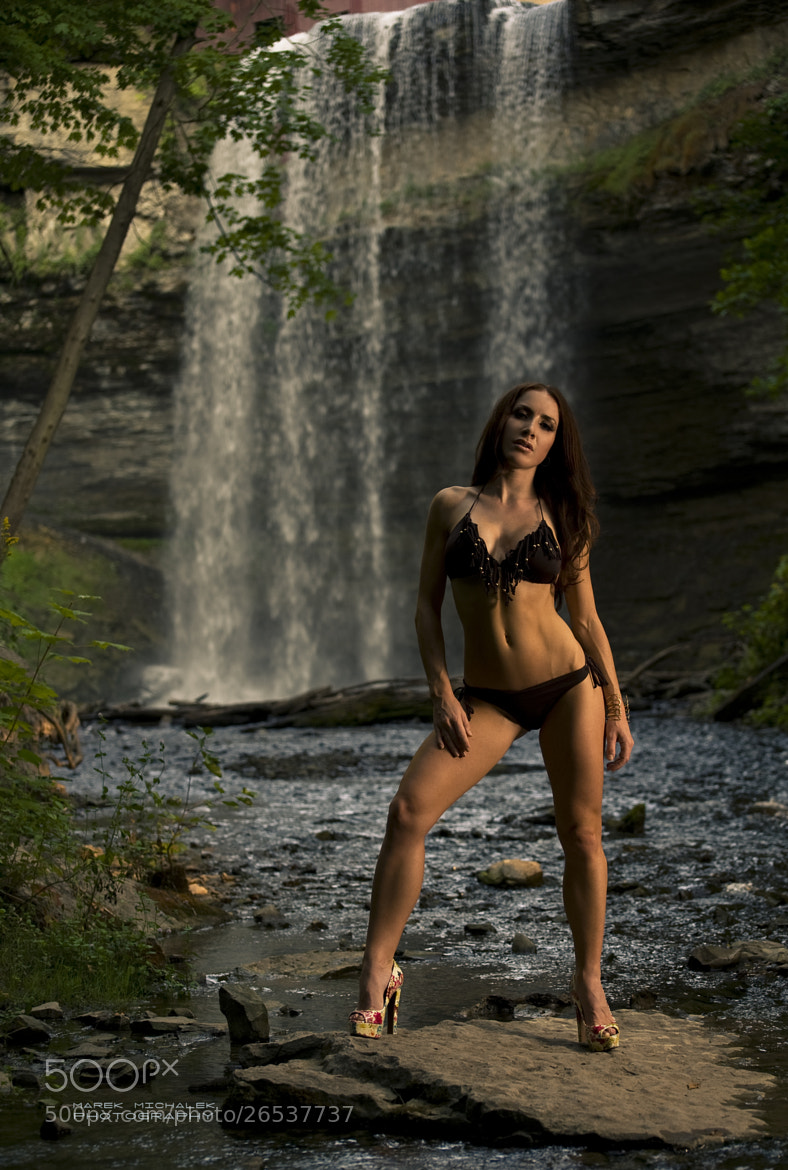 Photograph Sarah in front of falls by Photoshootme.ca Studios on 500px