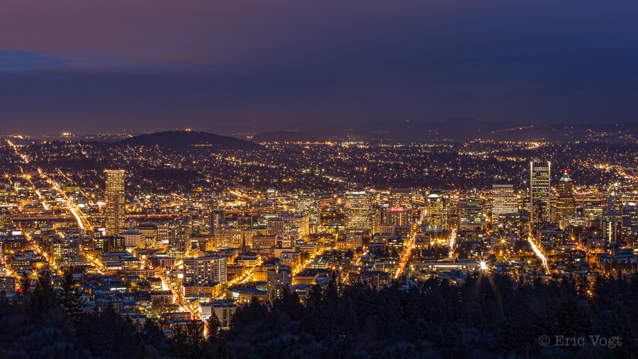 Photograph PDX Dusk Glow by Eric Vogt on 500px