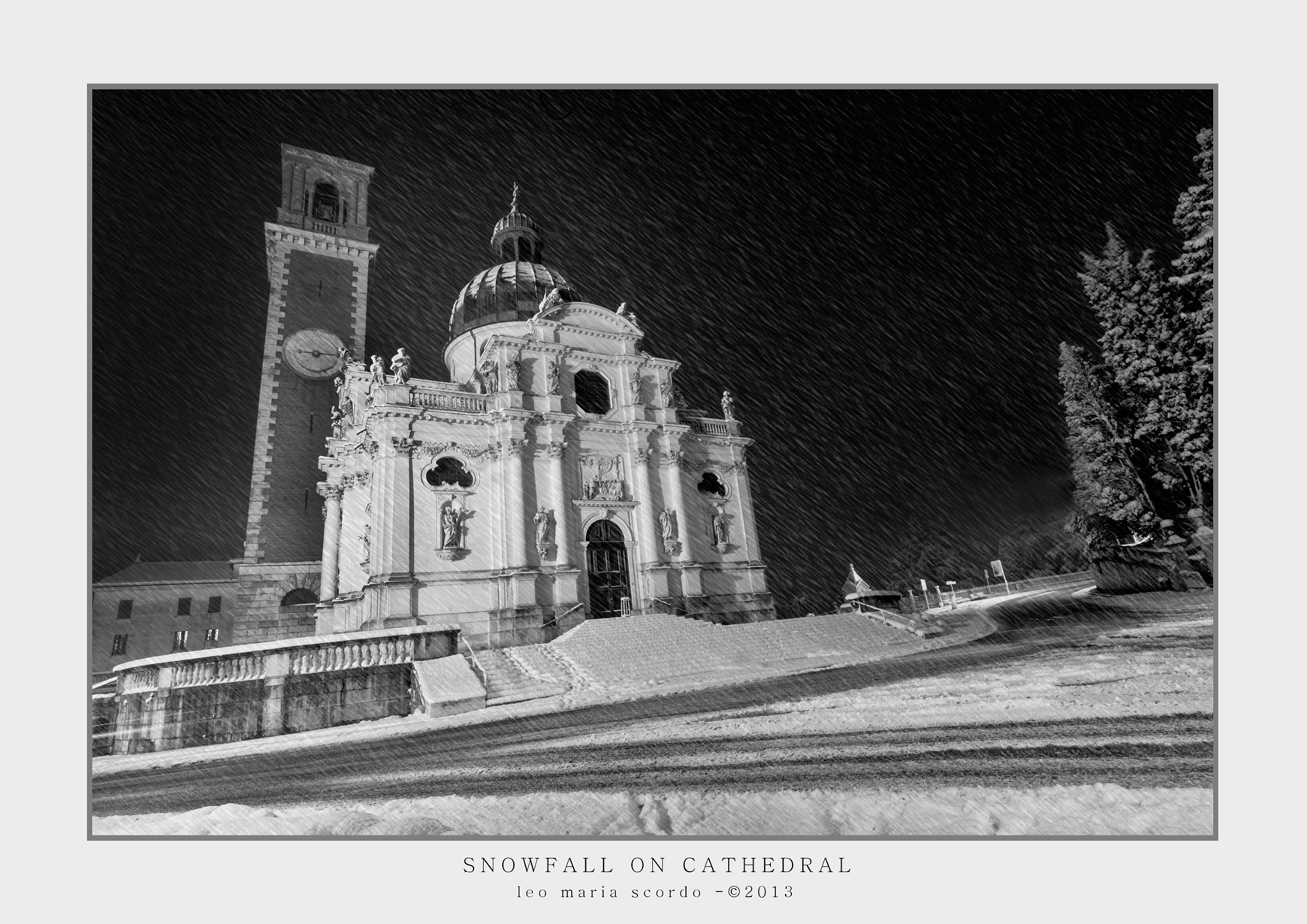Photograph SNOWFALL ON THE CATHEDRAL by Leo Maria Scordo on 500px