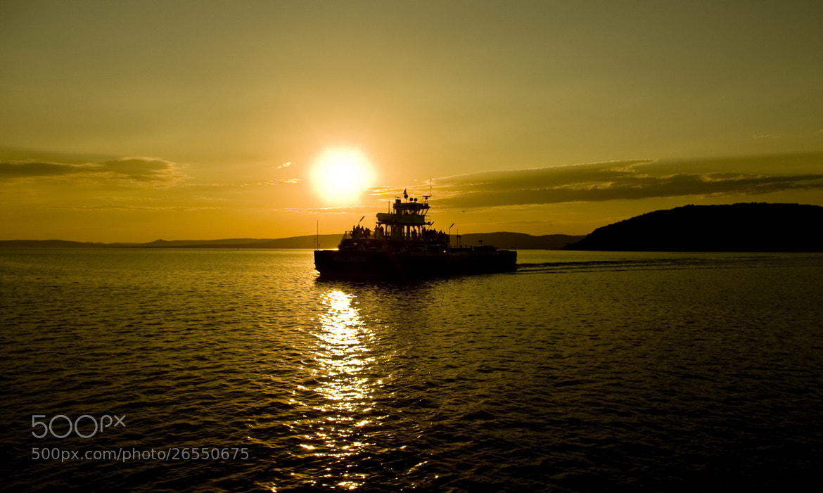 Photograph Ferry at Sunset  by Béla Török on 500px