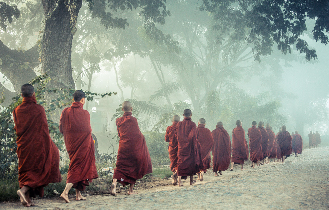 Photograph Monks in the fog by Philippe CAP on 500px