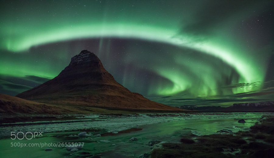 Photograph Kirkjufell halo by John Q on 500px