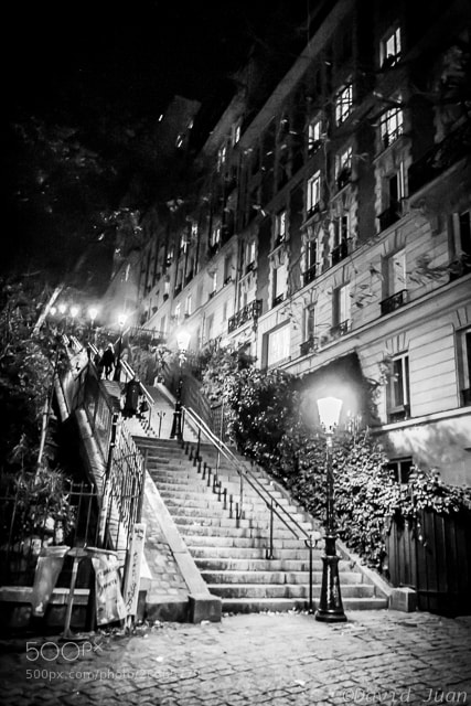 Photograph Stairs at Montmartre by David Juan on 500px