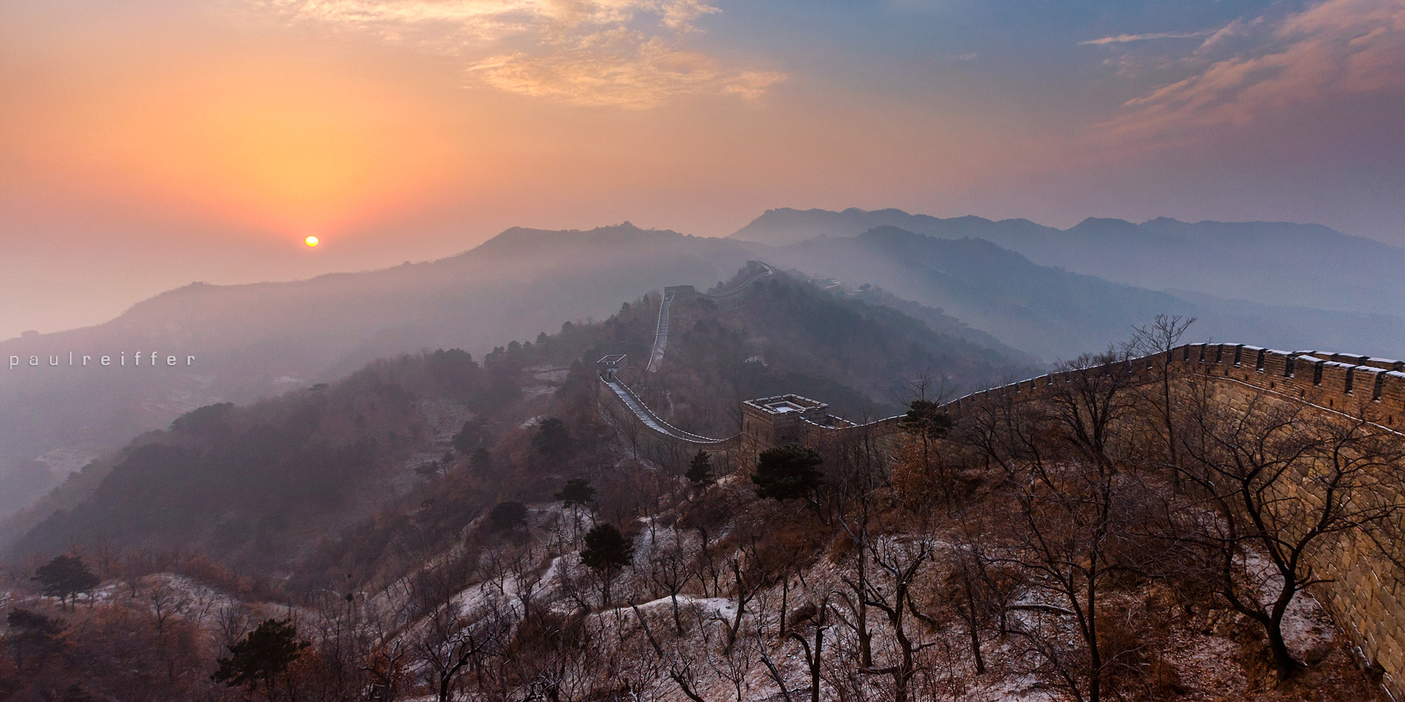 Photograph The Great Wall of China - Sunrise by Paul Reiffer on 500px