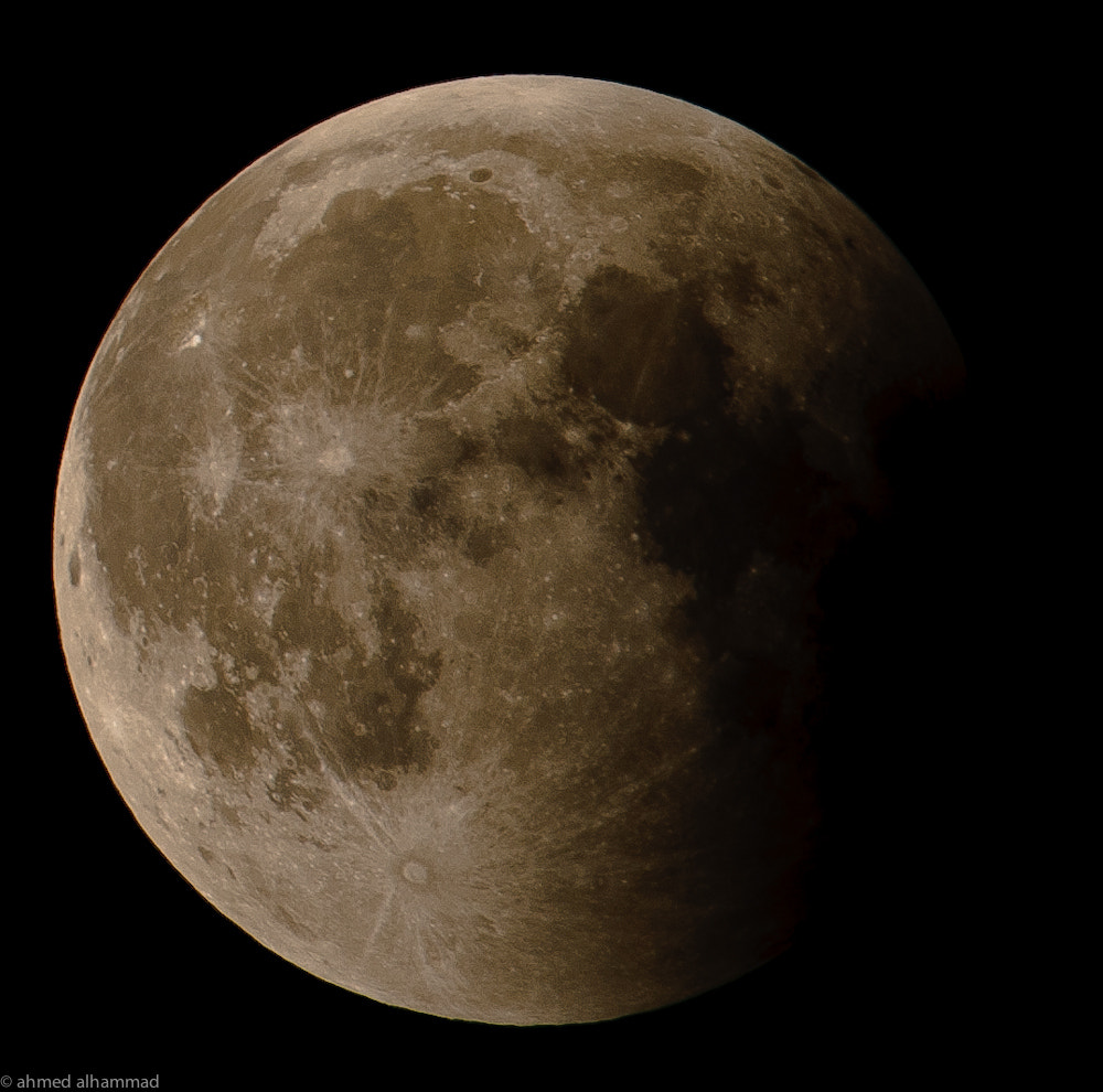 Photograph lunar eclipse  by Ahmed Alhammad on 500px