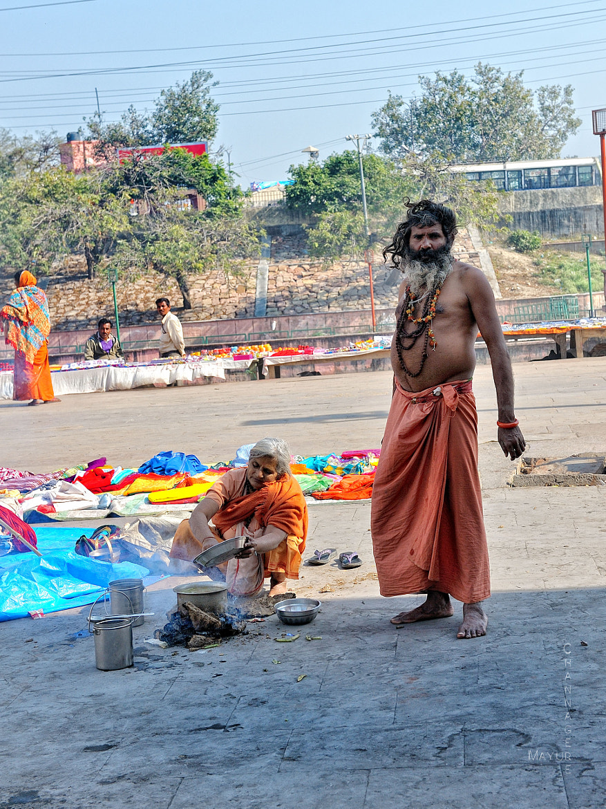 Photograph Sadhu On the streets of Ayodhya by Mayur Channagere on 500px