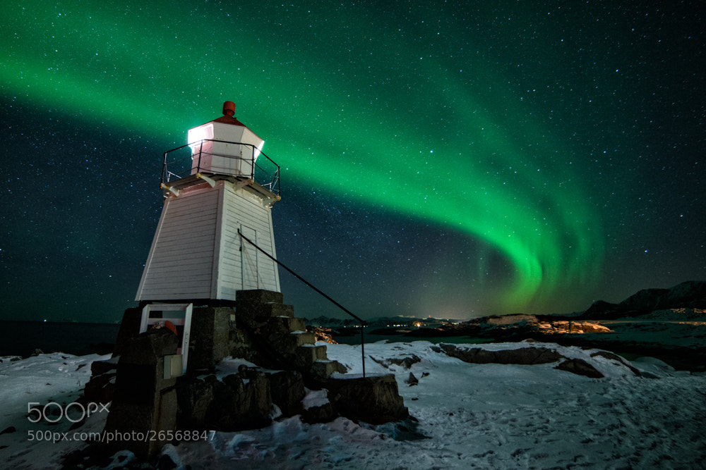Photograph Lighthouse Aurora by Dominik Beedgen on 500px