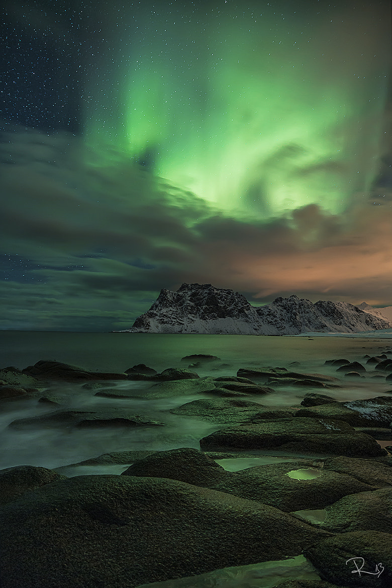 Photograph Green sky at night by Felix Röser on 500px