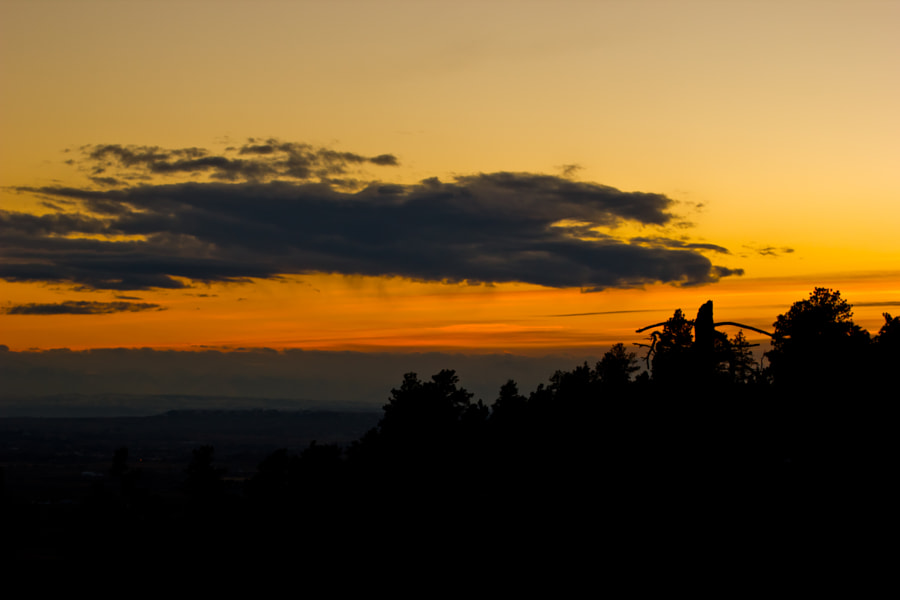 SUNSET FROM THE RIMROCK