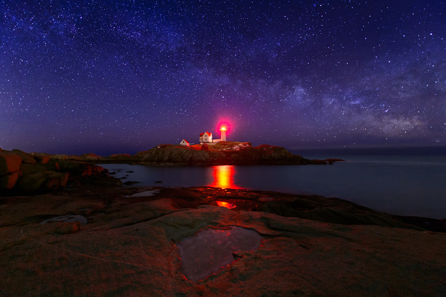 Photograph Beacon in the Night by Michael Blanchette on 500px