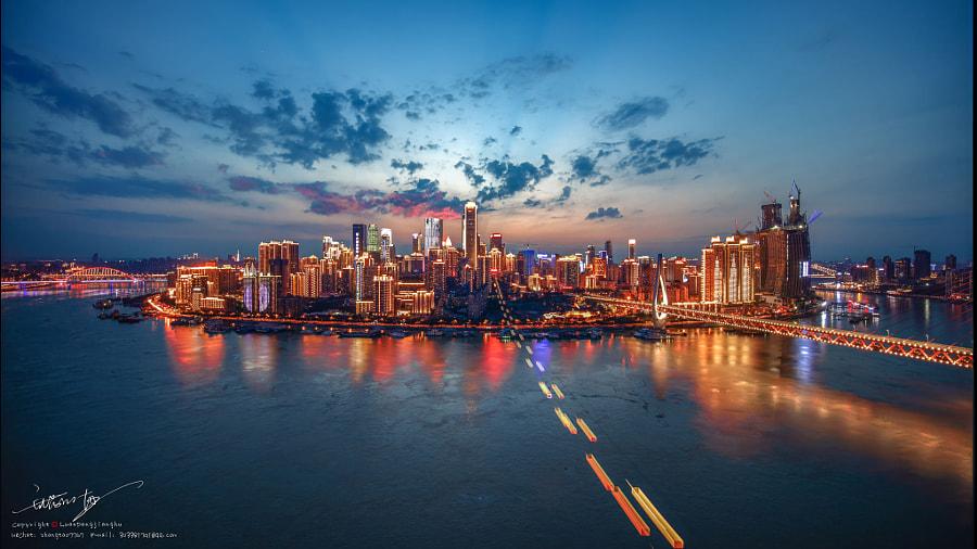 洪峰过境的重庆渝中半岛, автор — 乱荡江湖  на 500px.com