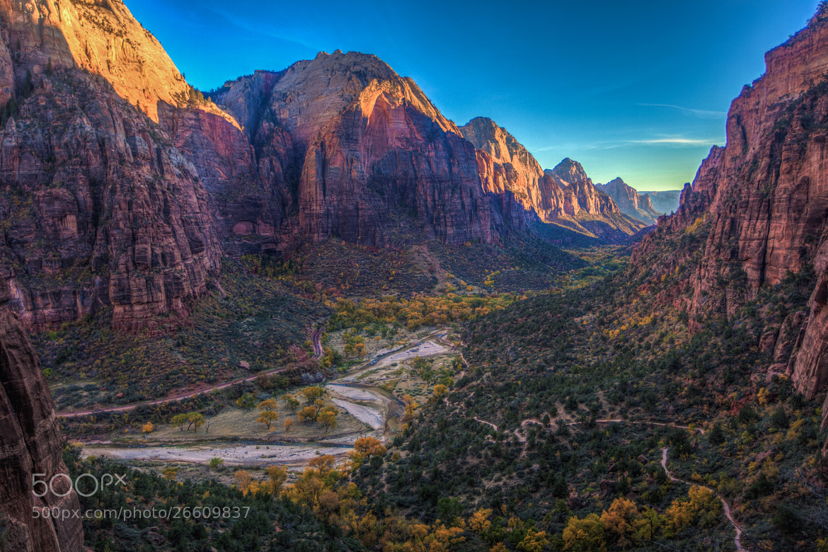 Photograph Waning Light of Zion Valley by William Dodd on 500px
