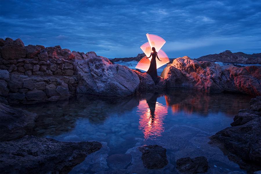 Light-painting in Menorca
