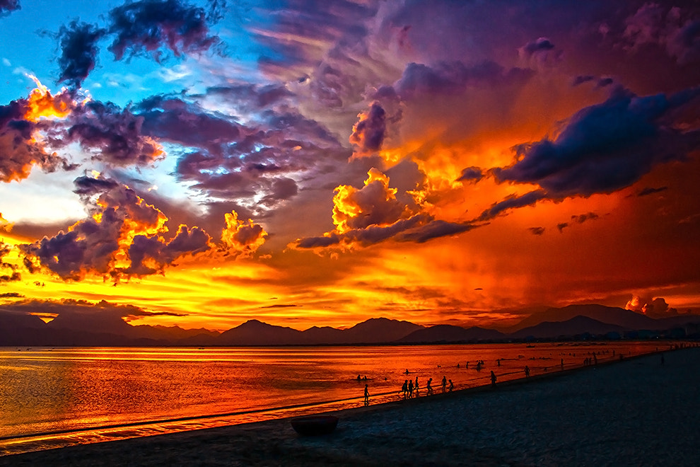 Photograph Fire sunset by Amateur Pic on 500px