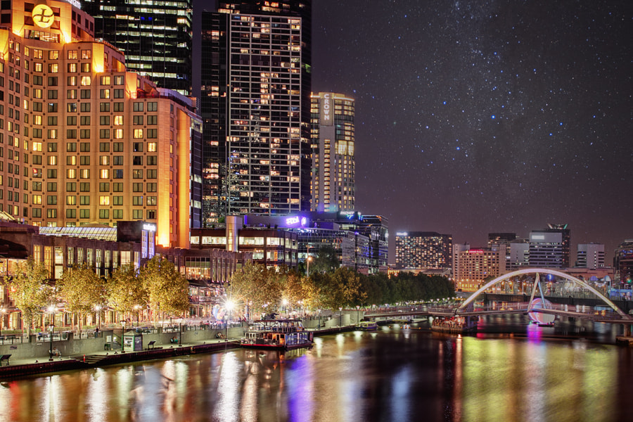 Photograph Yarra @night by tschnaider on 500px