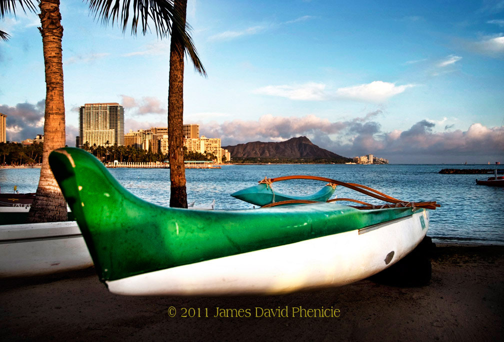 Photograph Outrigger Canoe at Waikiki Beach by James David Phenicie on 500px