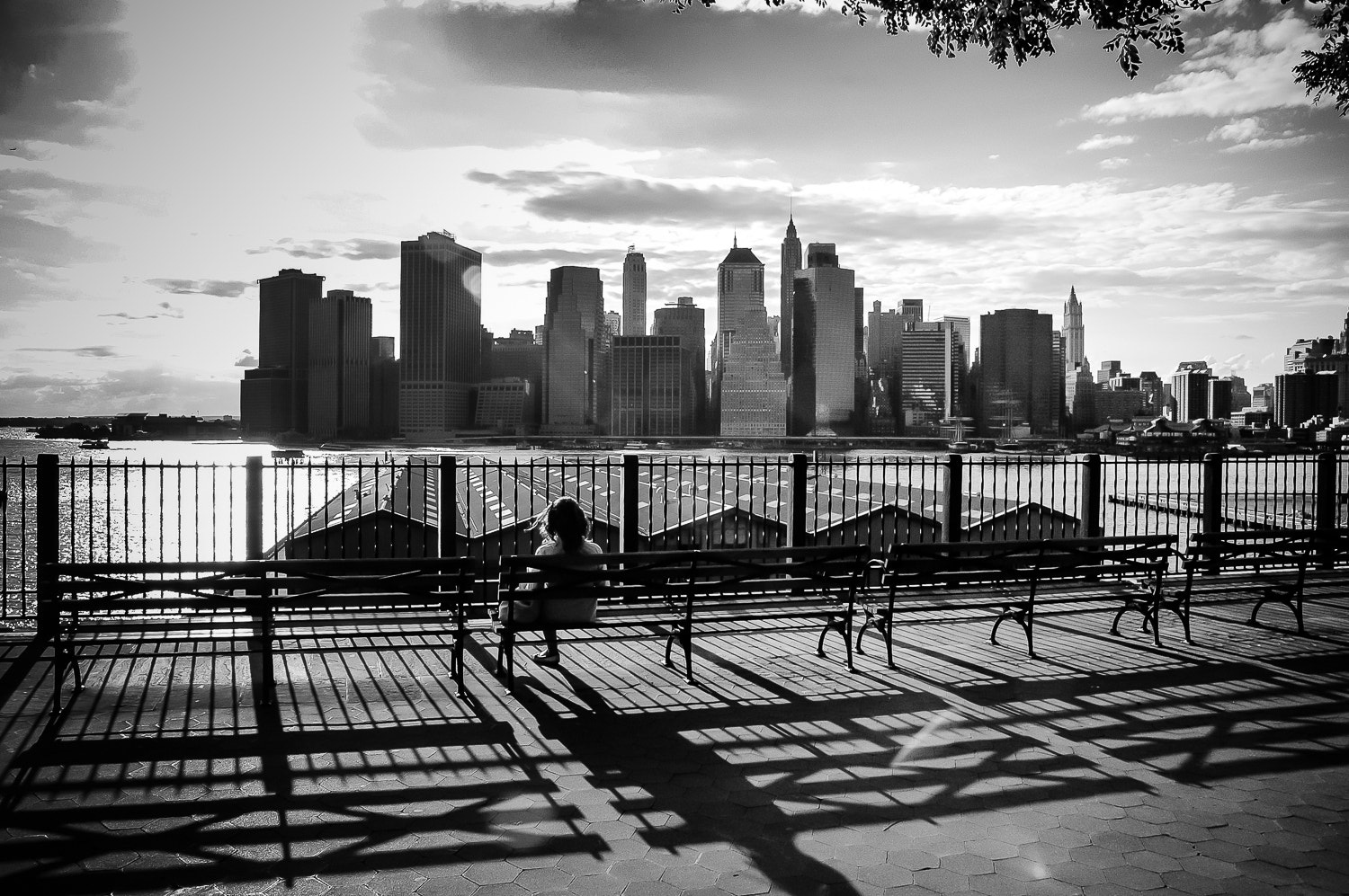 Photograph The girl on the bench, NY by Guillaume Gaudet on 500px