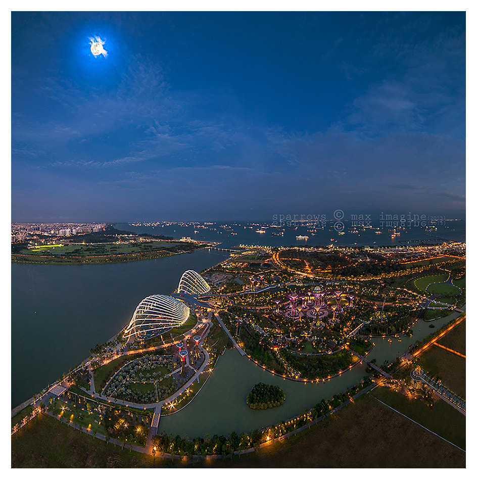 Photograph high-up with the moonlighting by M a x Ooi on 500px