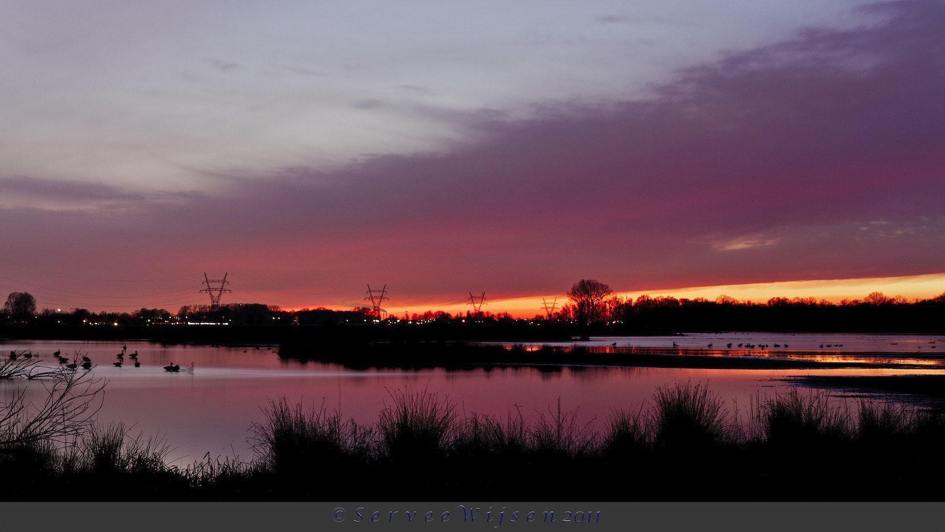 Photograph Sunset over the lake by Servee Wijsen on 500px