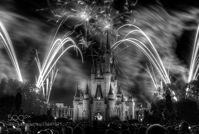 Photograph Walt Disney World 40thAnniversary Fireworks by Ali Elhajj on 500px