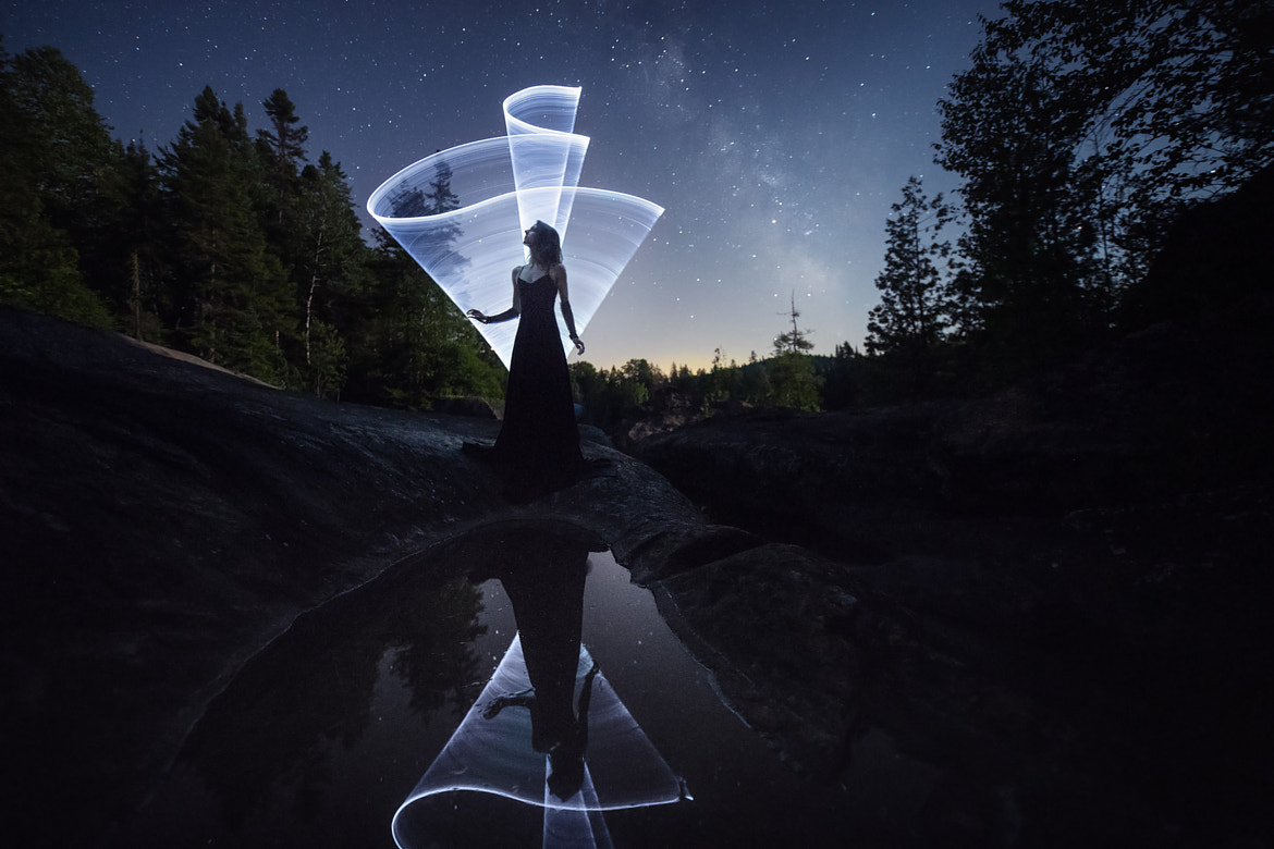 The new wiggle light-painting tool