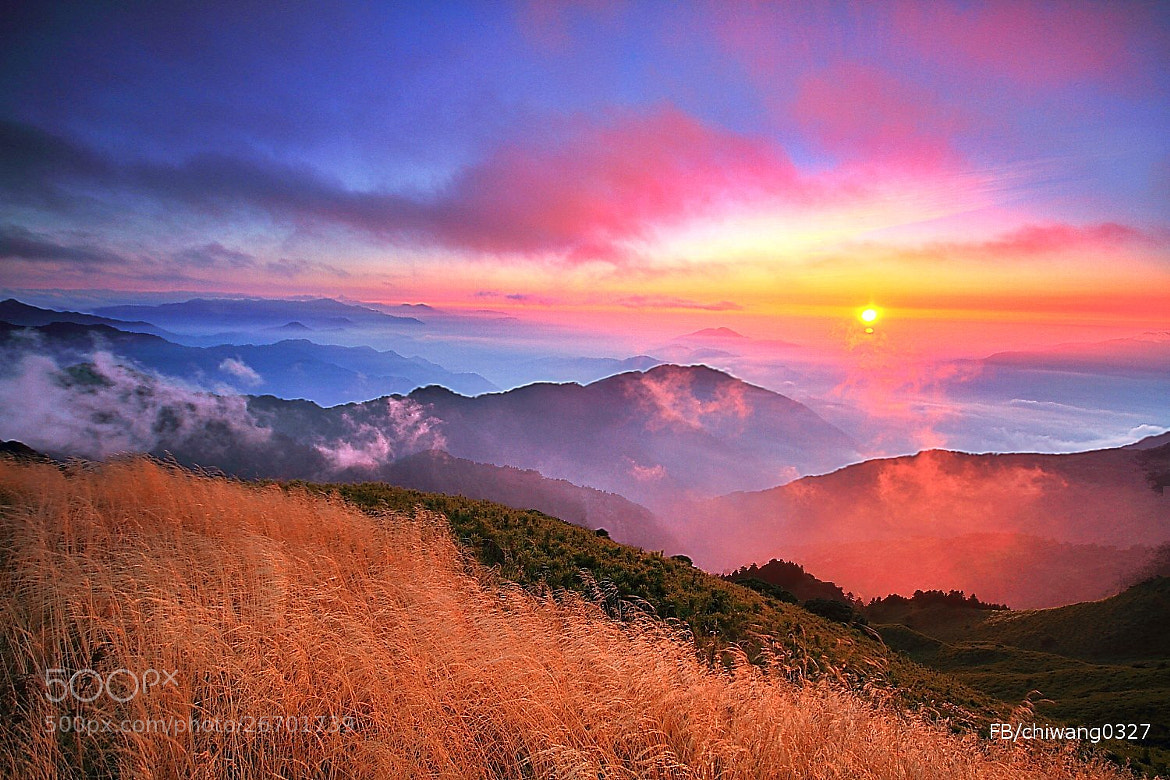 Photograph Sunset in Mt. Hehuan Taiwan by Chi Wang on 500px