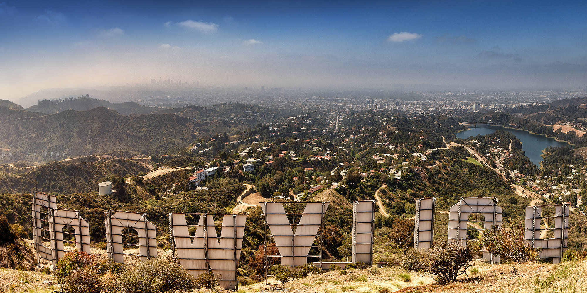 Photograph Hollywood Sign Skyline - Reverse Landscape View by Paul Reiffer on 500px