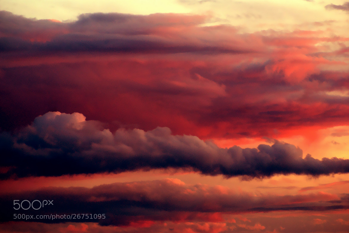 Photograph fire in the sky by Tom Magnum on 500px