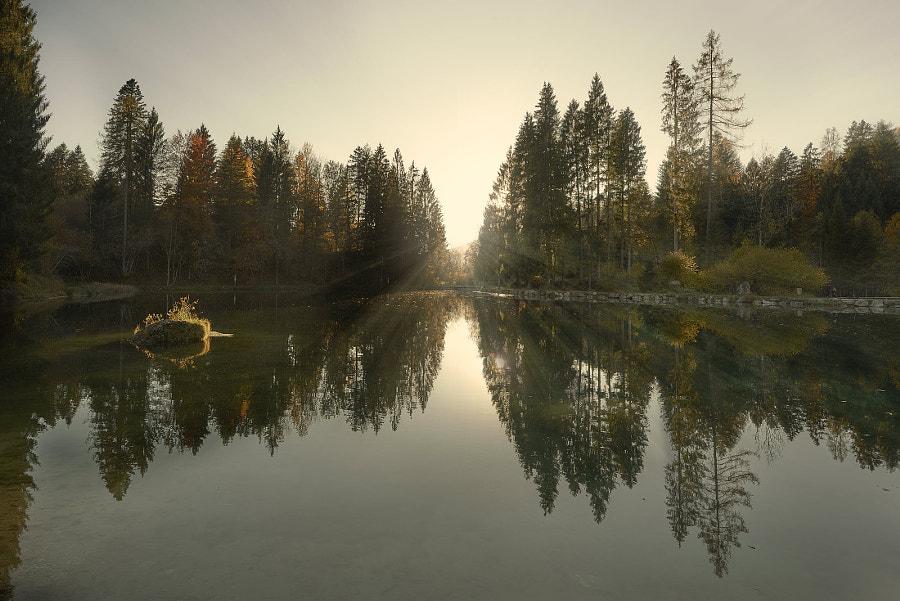 Welsperg lake I, автор — adelino rossi на 500px.com