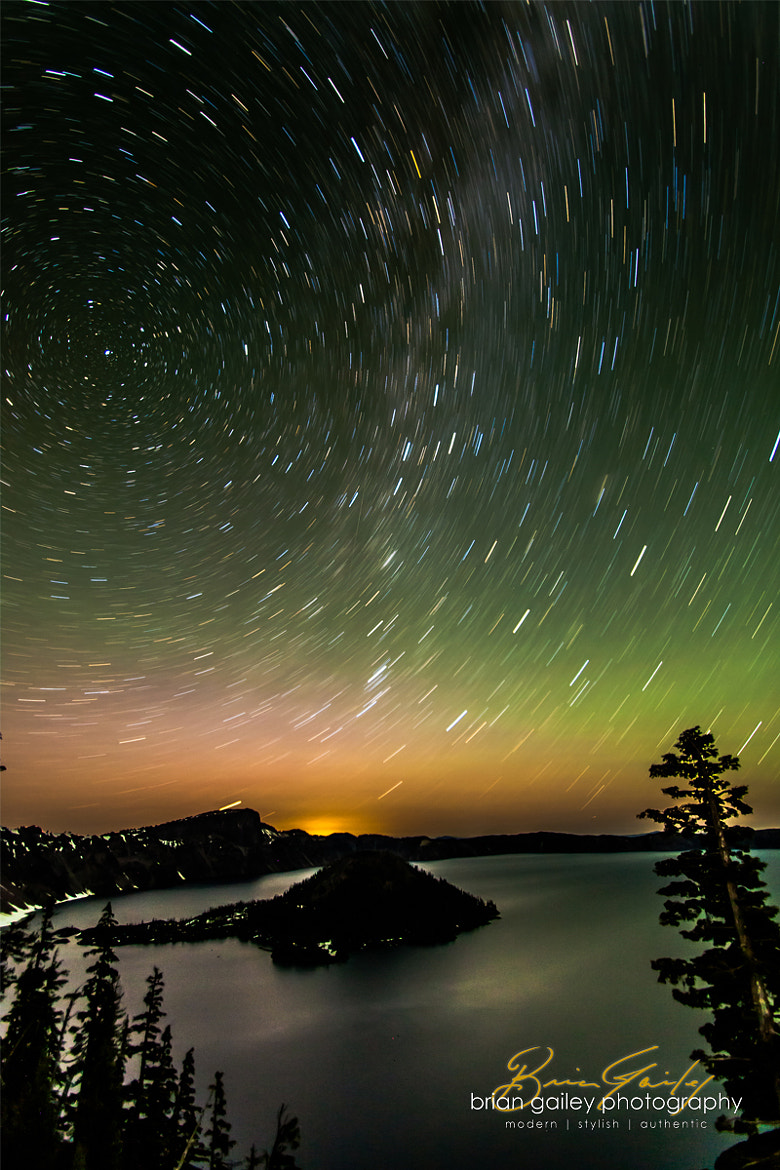 Photograph Northern Lights at Crater Lake by Brian Gailey on 500px
