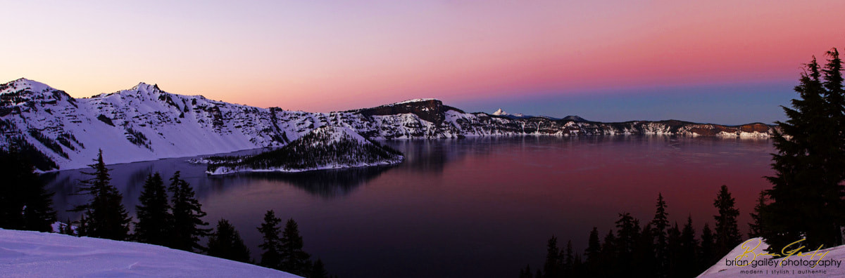 Photograph Winter Sunset at Crater Lake  by Brian Gailey on 500px