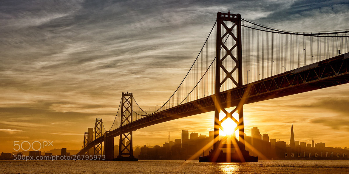 Photograph Bay Bridge Sunset over San Francisco by Paul Reiffer on 500px