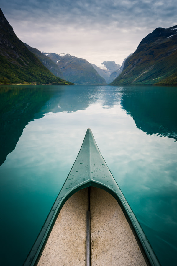 Floating on Lovatnet by Arnas Goldberg on 500px.com