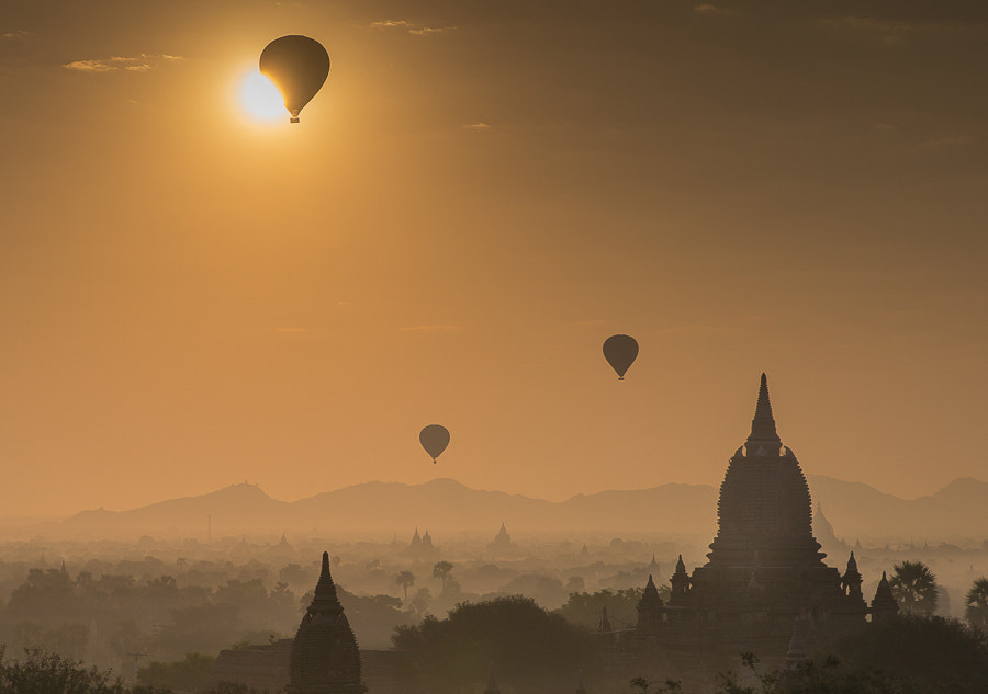 Photograph Sunrise over Bagan, Myanmar by Glorie  on 500px