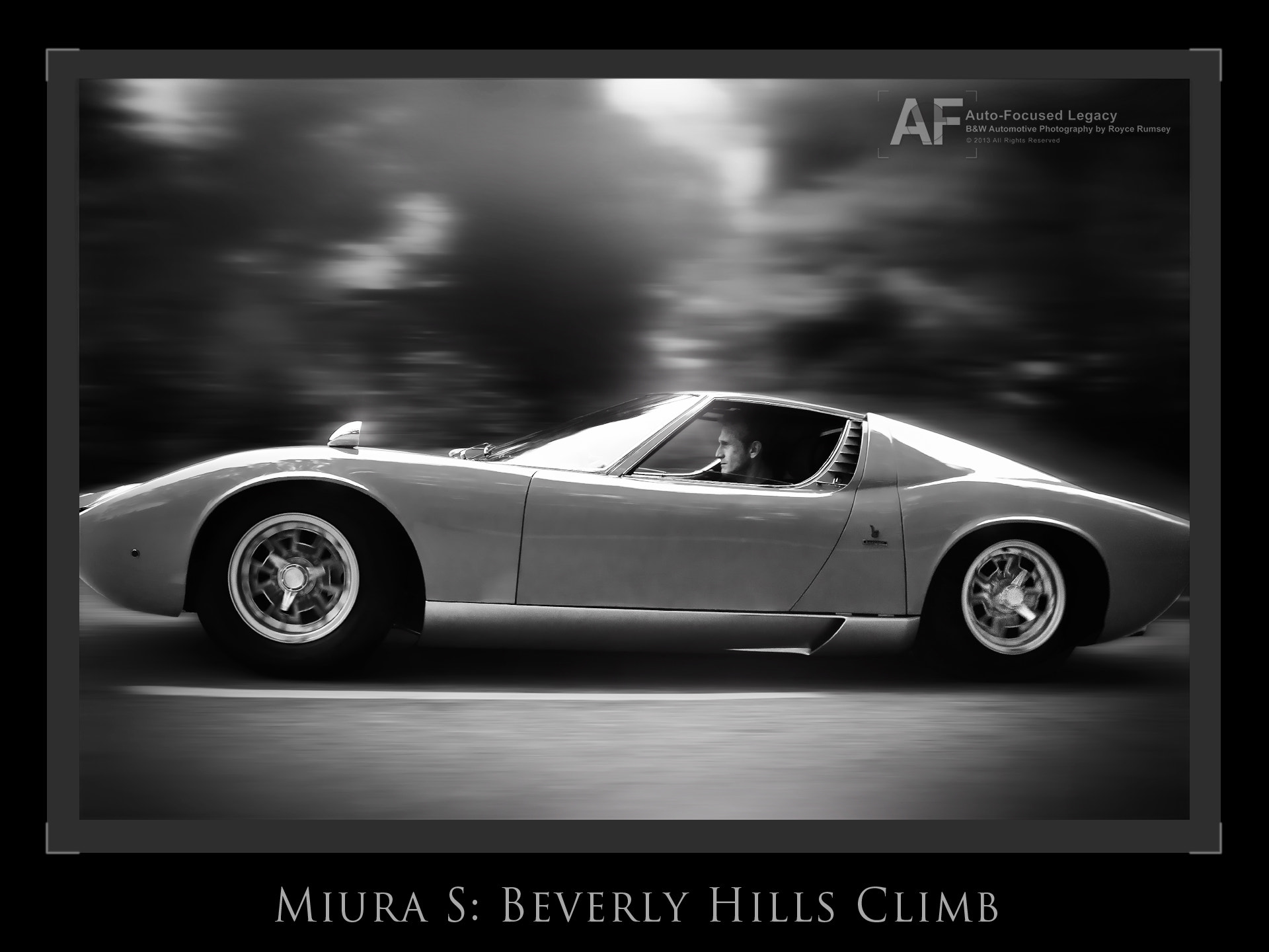 Photograph (Beverly) Hill Climb in a Miura S (Legacy B&W Series) by Royce Rumsey on 500px