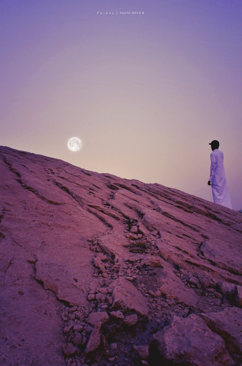 Photograph With the Moon by Faisal Awad on 500px