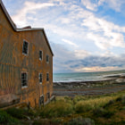 Abandonned warehouse in San Gregorio, Magallanes, Chile. Chilean Patagonia