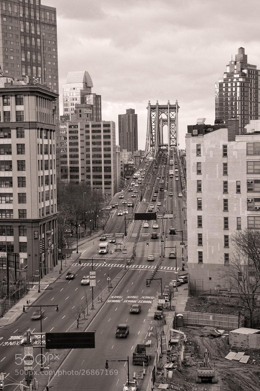 Photograph Manhattan Bridge B&W by Scott Nelson on 500px