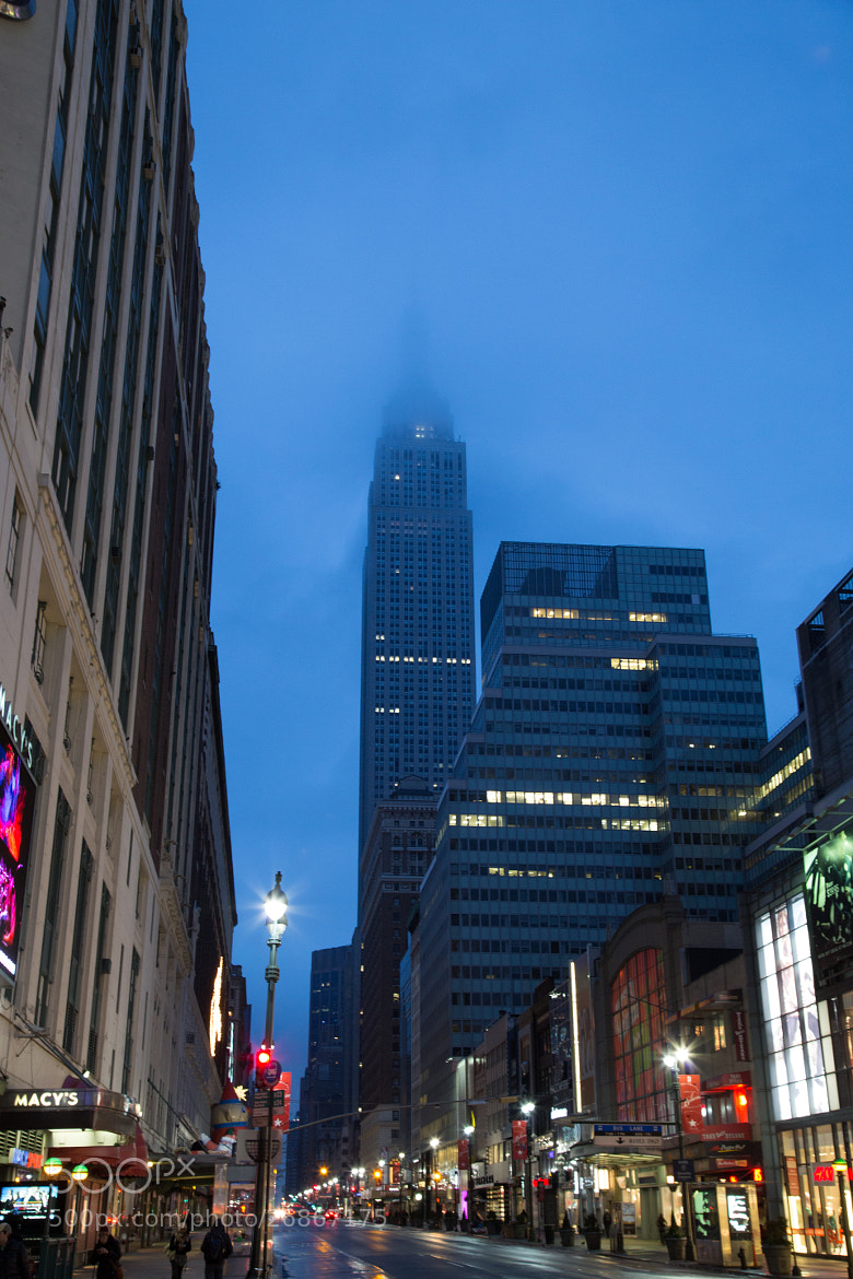 Photograph Empire State Building in the Fog by Scott Nelson on 500px