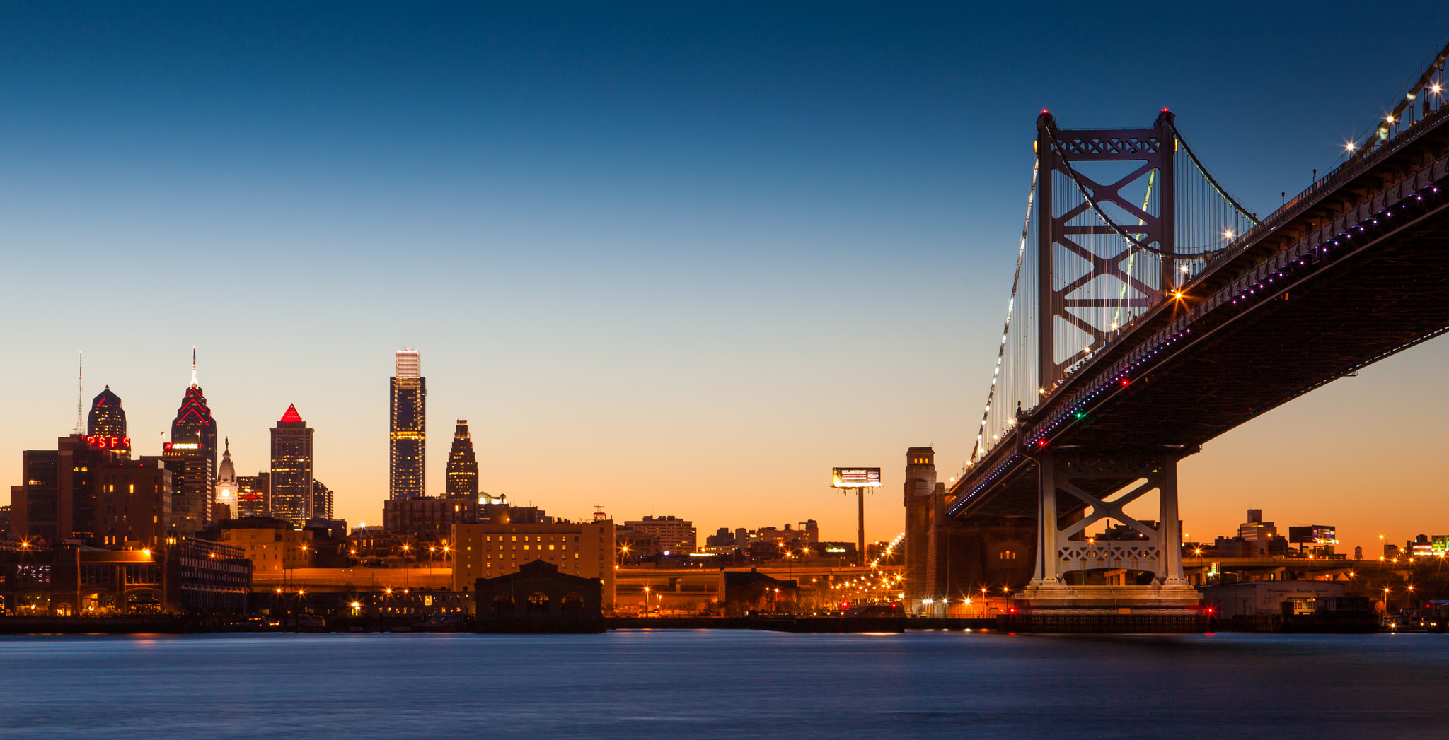Photograph Philadelphia at dusk by Rich Williams on 500px
