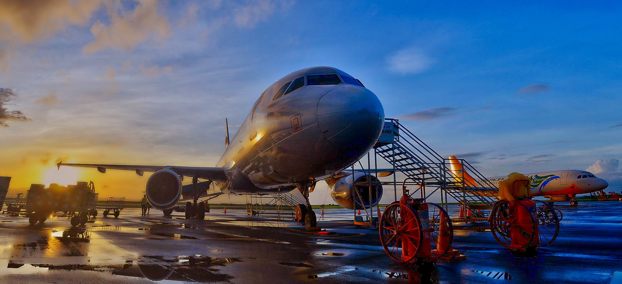 Photograph Two Airbus A220s by Vey Telmo on 500px