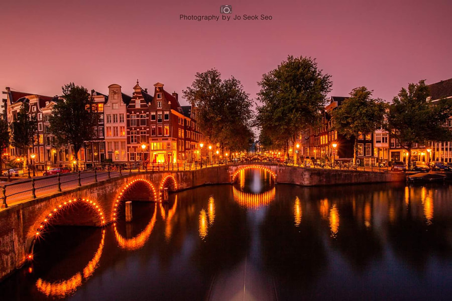 Amsterdam nightscape beautiful view.2, автор — Jo Seok Seo на 500px.com