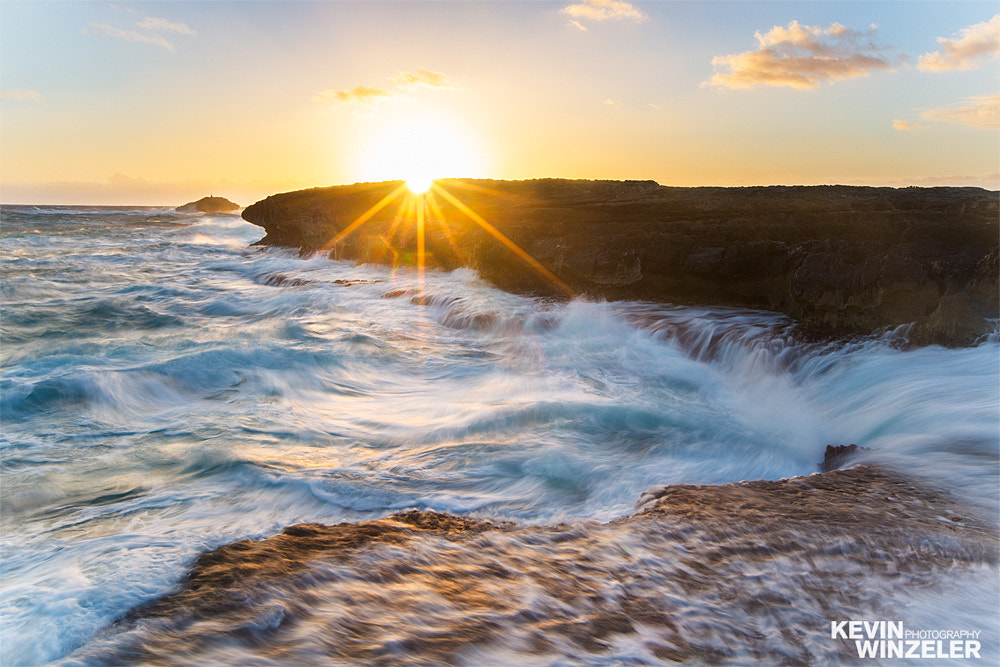 Photograph Restless waters - Sunrise in Oahu, Hawaii by KevinWinzeler.com  ~ sports, lifestyle on 500px