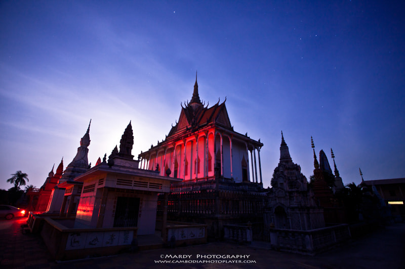Photograph The Red Pagoda in the Night! by Mardy Suong Photography on 500px