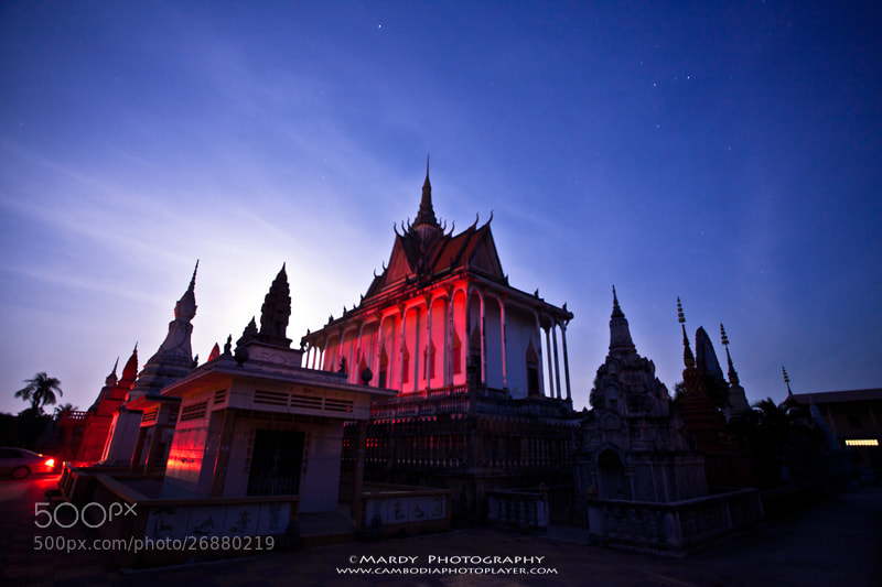 Photograph The Red Pagoda in the Night! by Mardy Photography on 500px