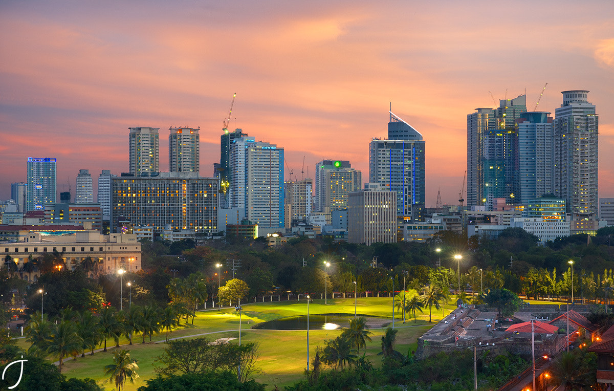 Photograph Intramuros Golf & Mabini magic hour by Romain John on 500px
