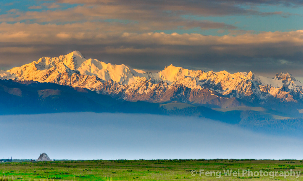 Photograph Dawn At Tian Shan Mountains by Feng Wei on 500px