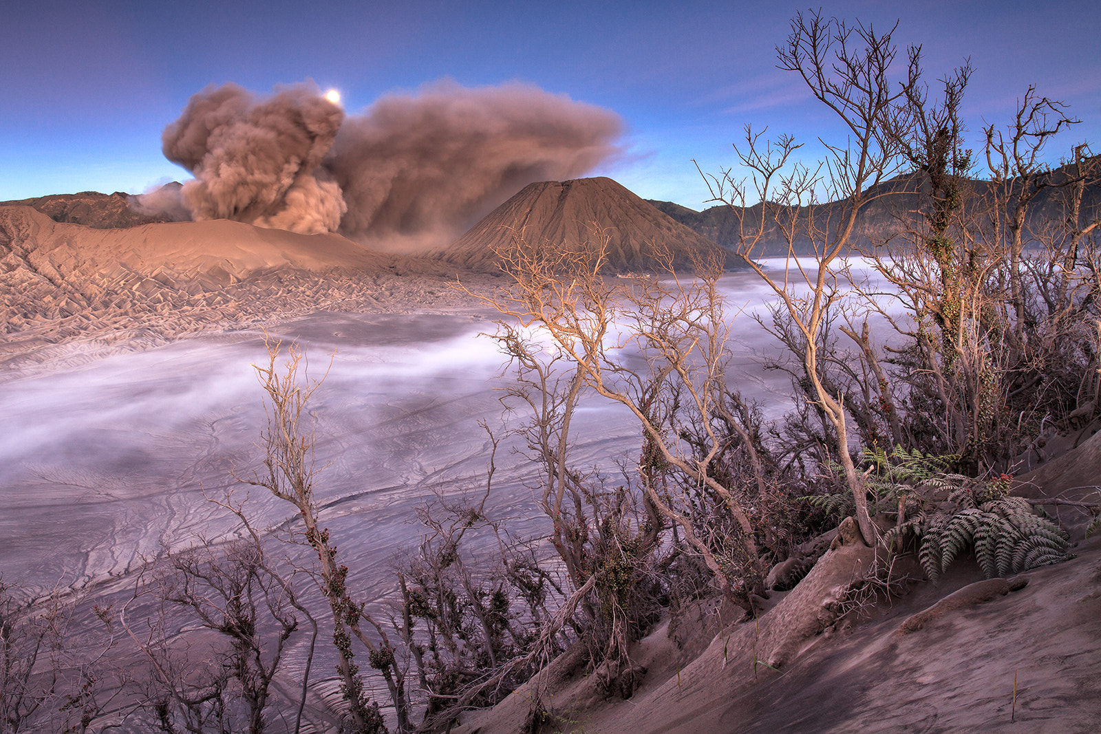 Photograph Moonset Mount Bromo by Helminadia Ranford on 500px