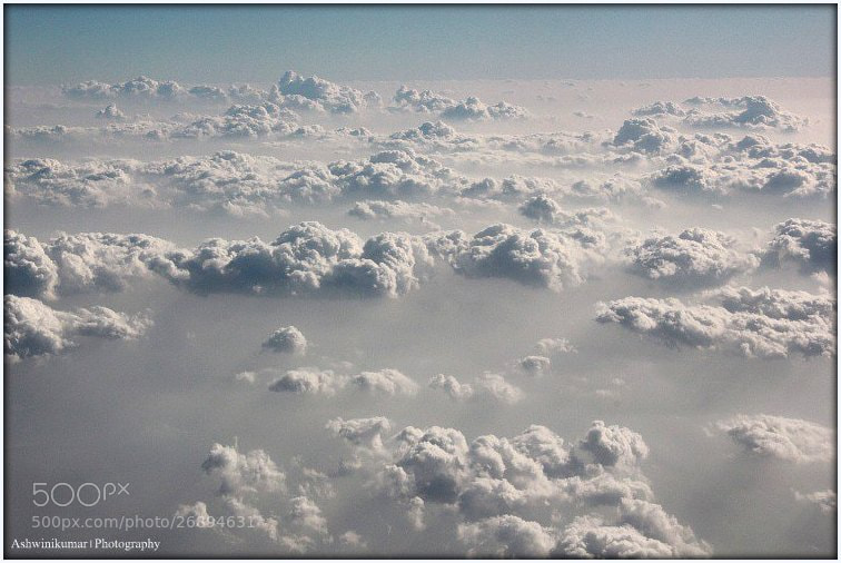 Photograph Floating over the Clouds by Ashwinikumar M on 500px
