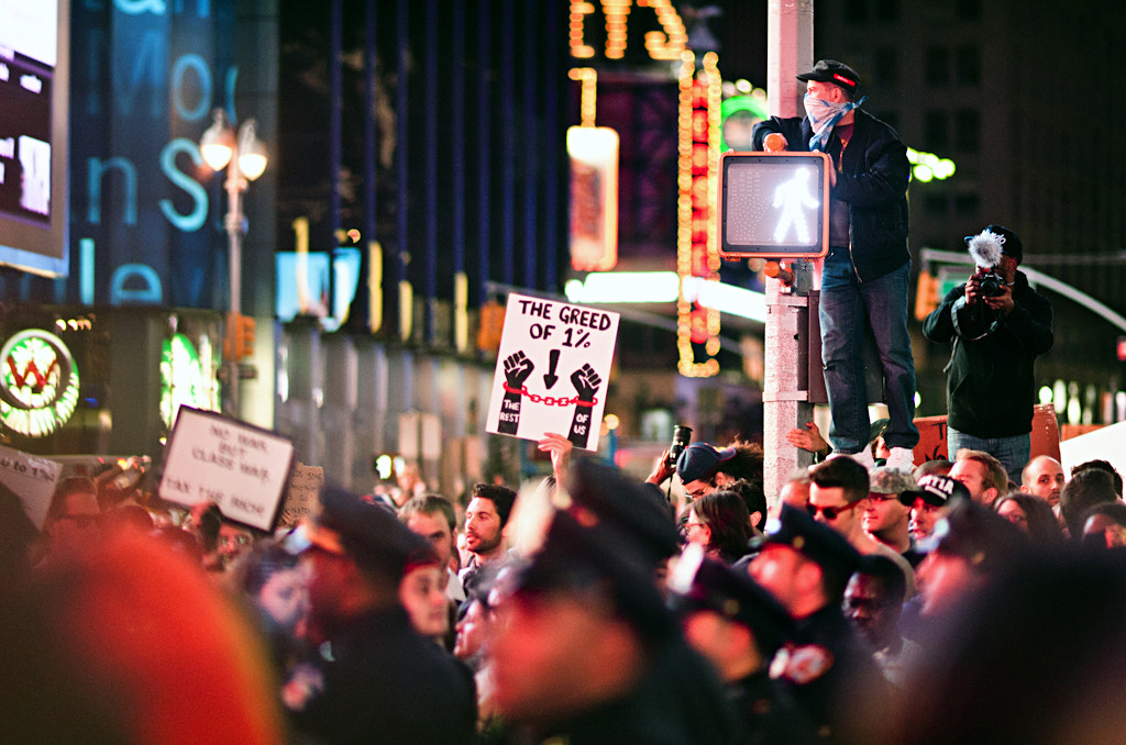 Photograph Occupy Times Square by Navid Baraty on 500px